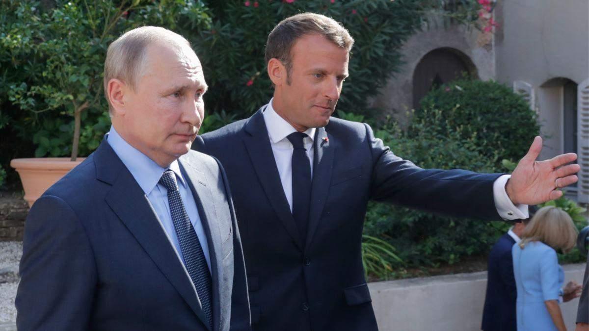 Макрона призвал Путина вместе бороться с терроризмом