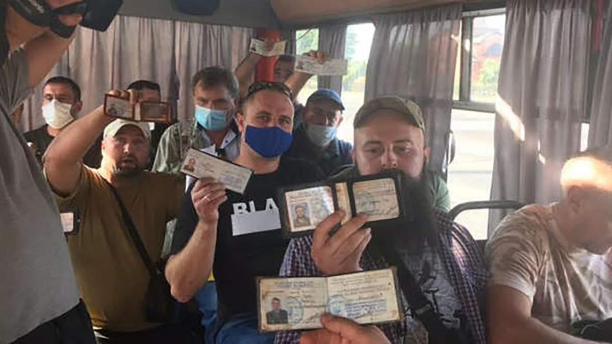 Конфликт ветеранов АТО с маршрутчиками в Кропивницком: видео