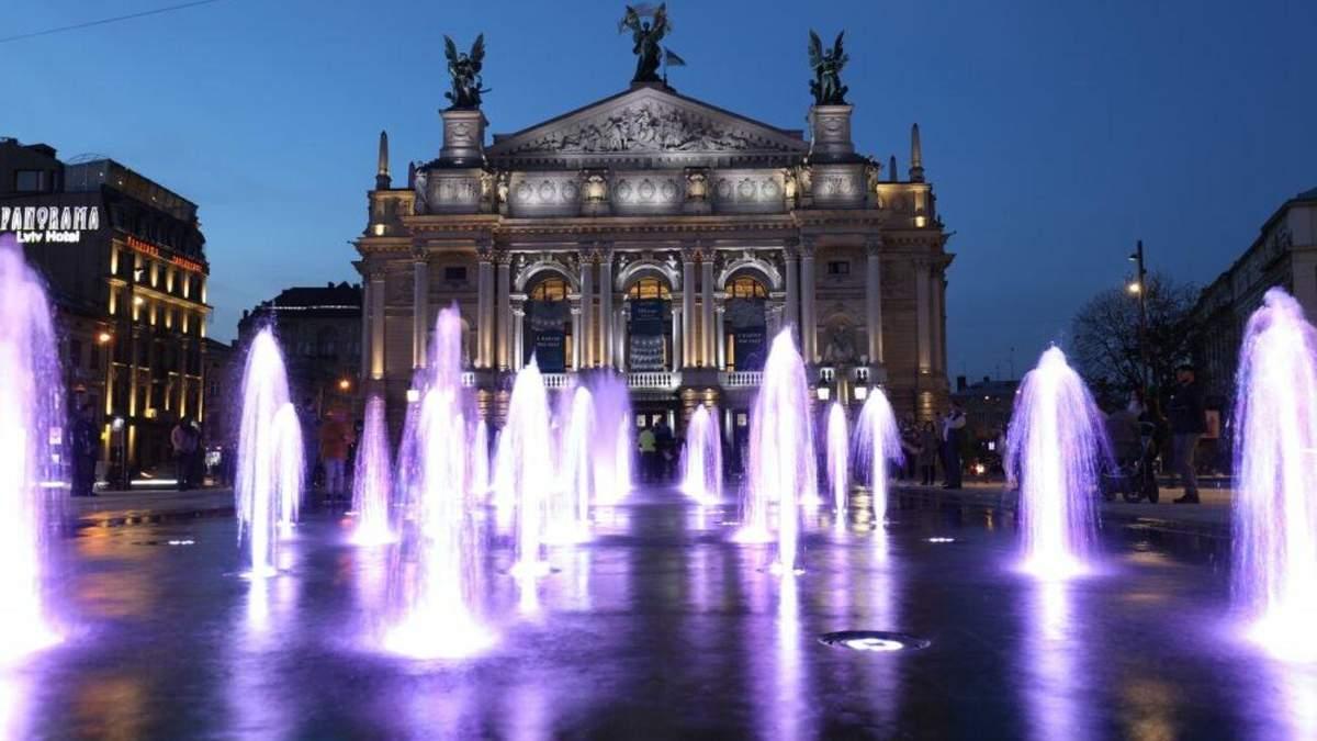 Во Львове начал работать сухой фонтан за 1,5 миллиона долларов фото