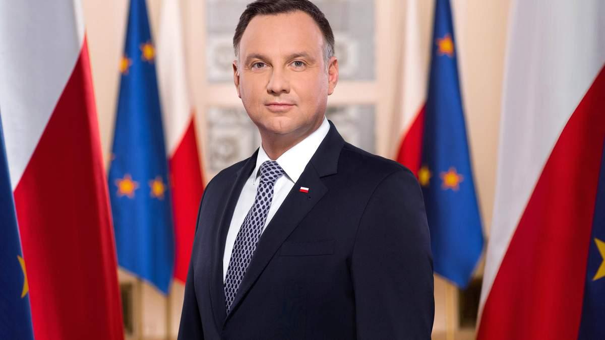Президент Польщі Анджей Дуда захворів на COVID-19
