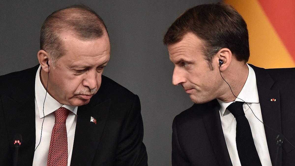 Скандал між Едоганом і Макроном: Ердоган знову наїхав на Макрона
