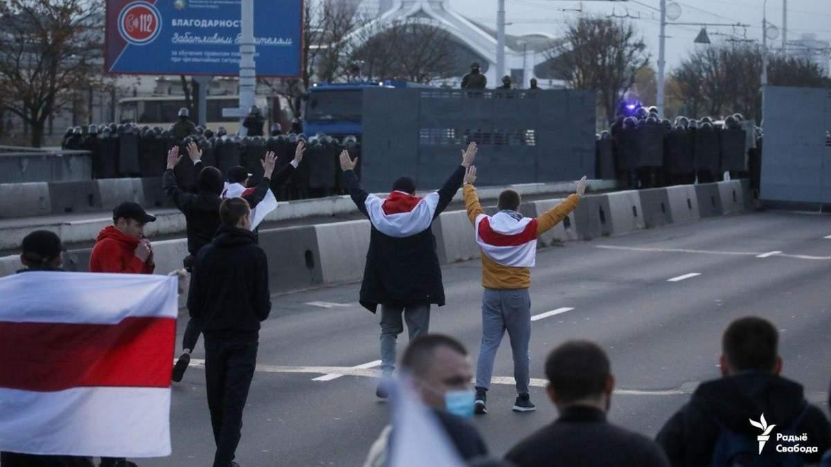 Акция протеста в Беларуси 25 октября