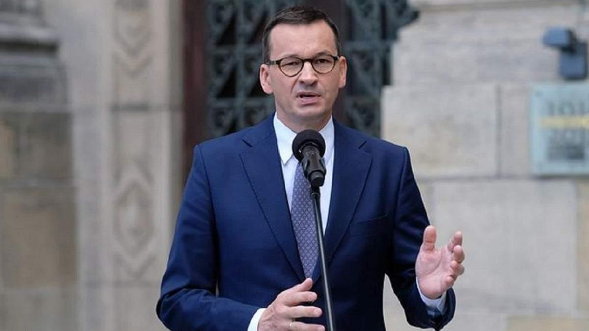 Прем'єр Польщі вперше прокоментував протести: реакція Моравецького