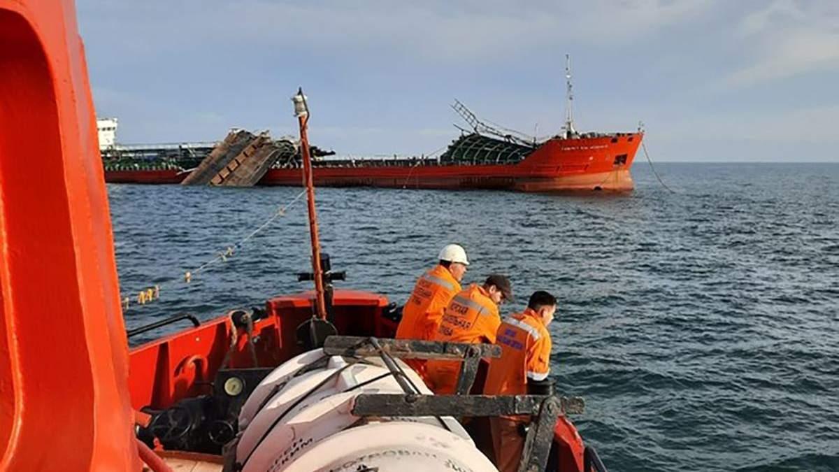 Авария танкера Ази Асланов в Азовском море: нашли тела