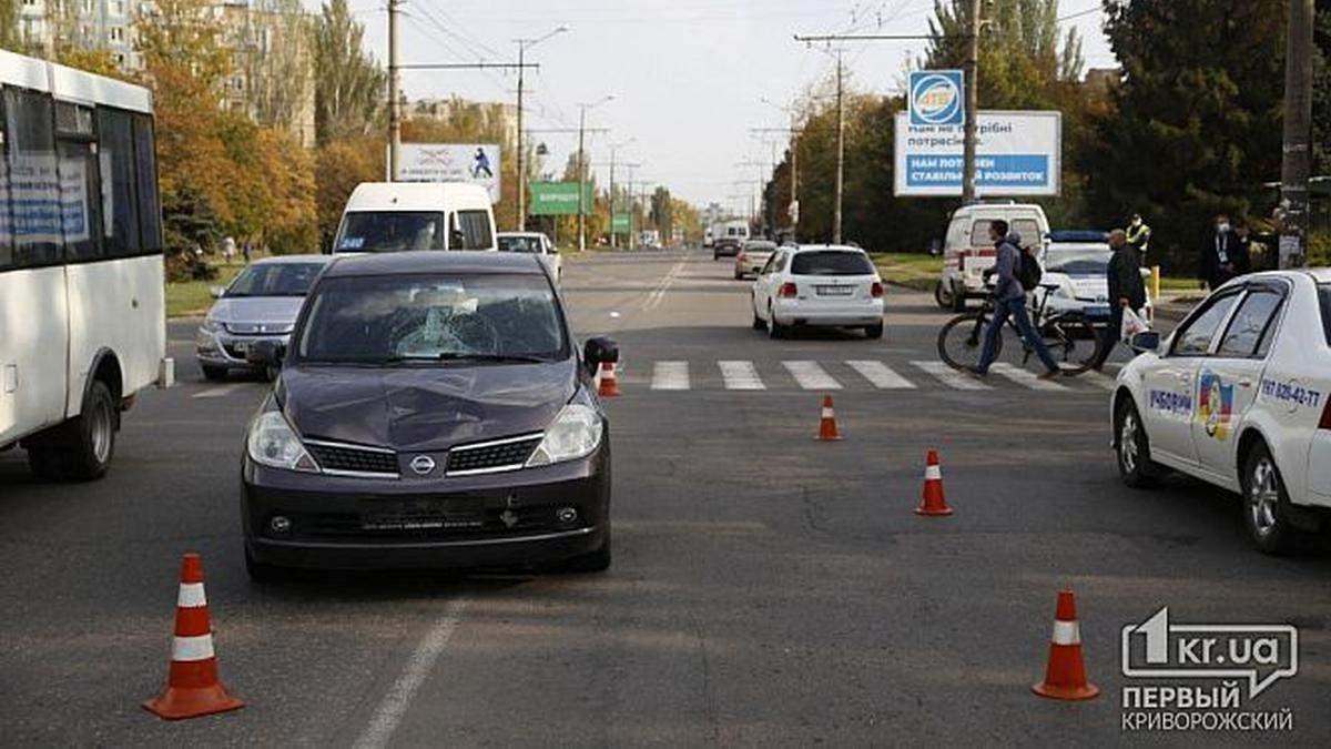 У Кривому Розі Nissan зніс двох школярів на пішохідному переході