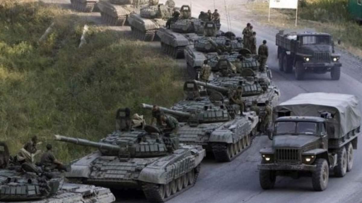 Росія перекинула на Донбас 20 вантажівок зі зброєю