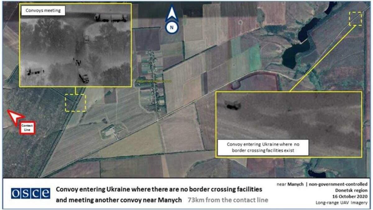 Вторгнення російських автоколон на Донбас: волонтери виявили унікальні фото з безпілотника