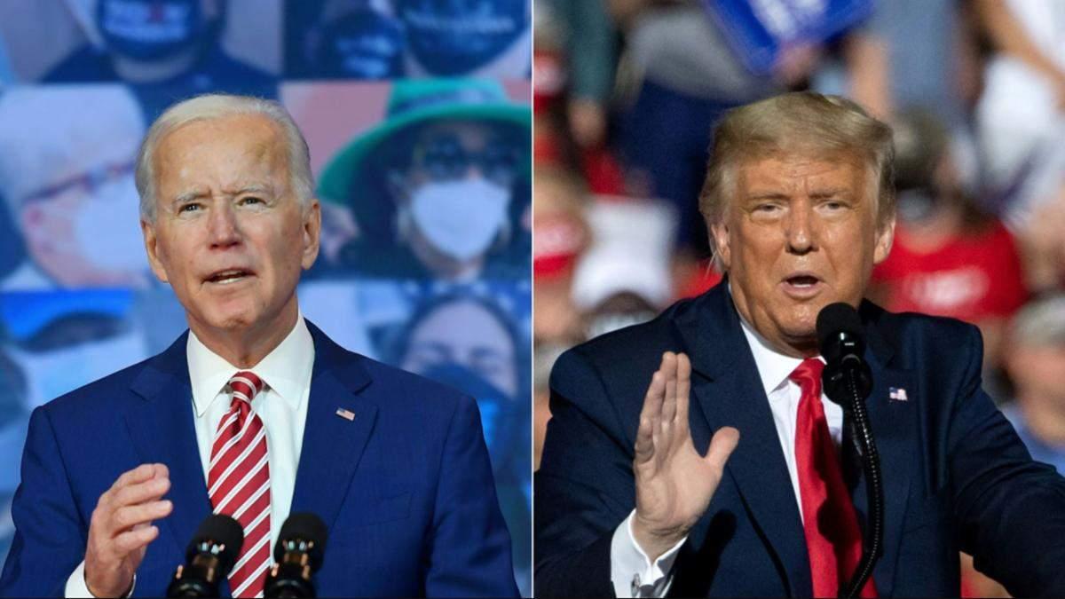 Трамп і Байден звернулись до виборців після голосування: що кажуть