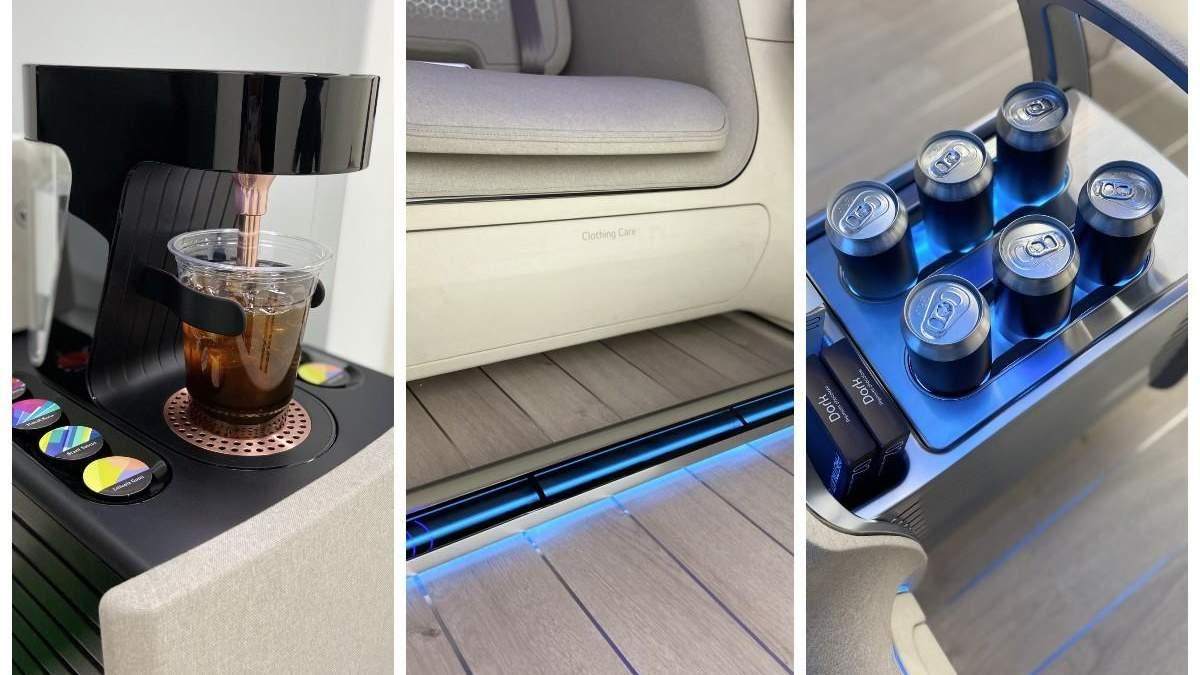 Электрокар Loniq Concept Cabin от Hyundai - салон, фото, видео