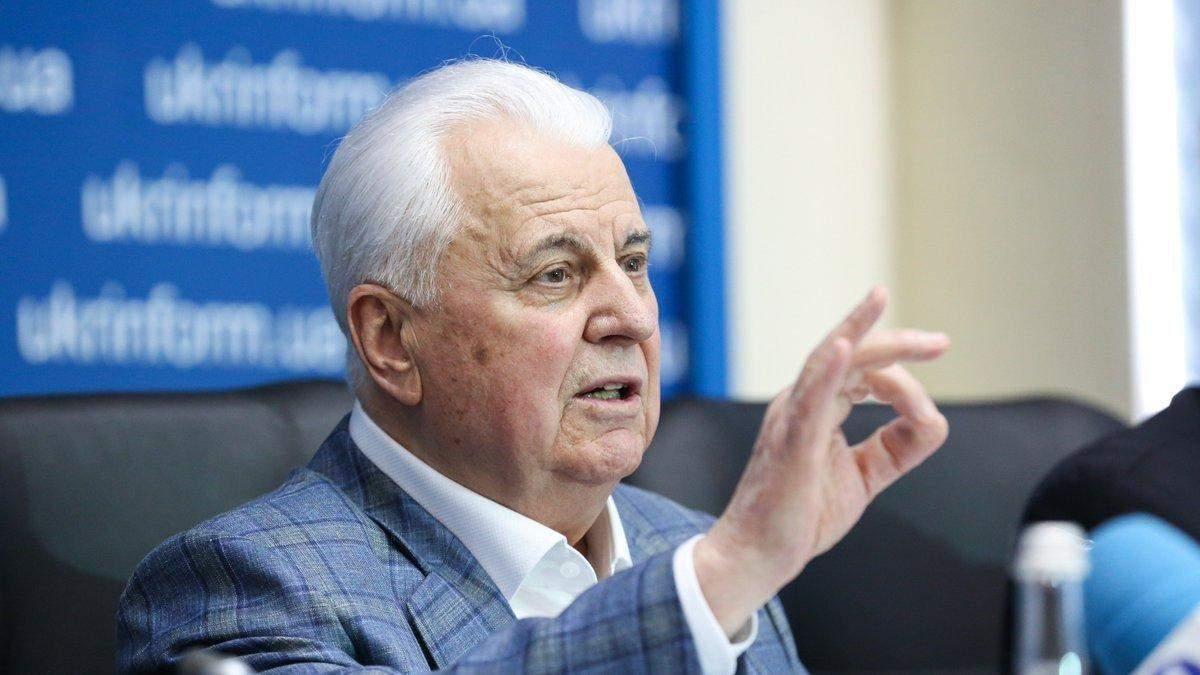 Глава украинской делегации в ТКГ в Минске Леонид Кравчук