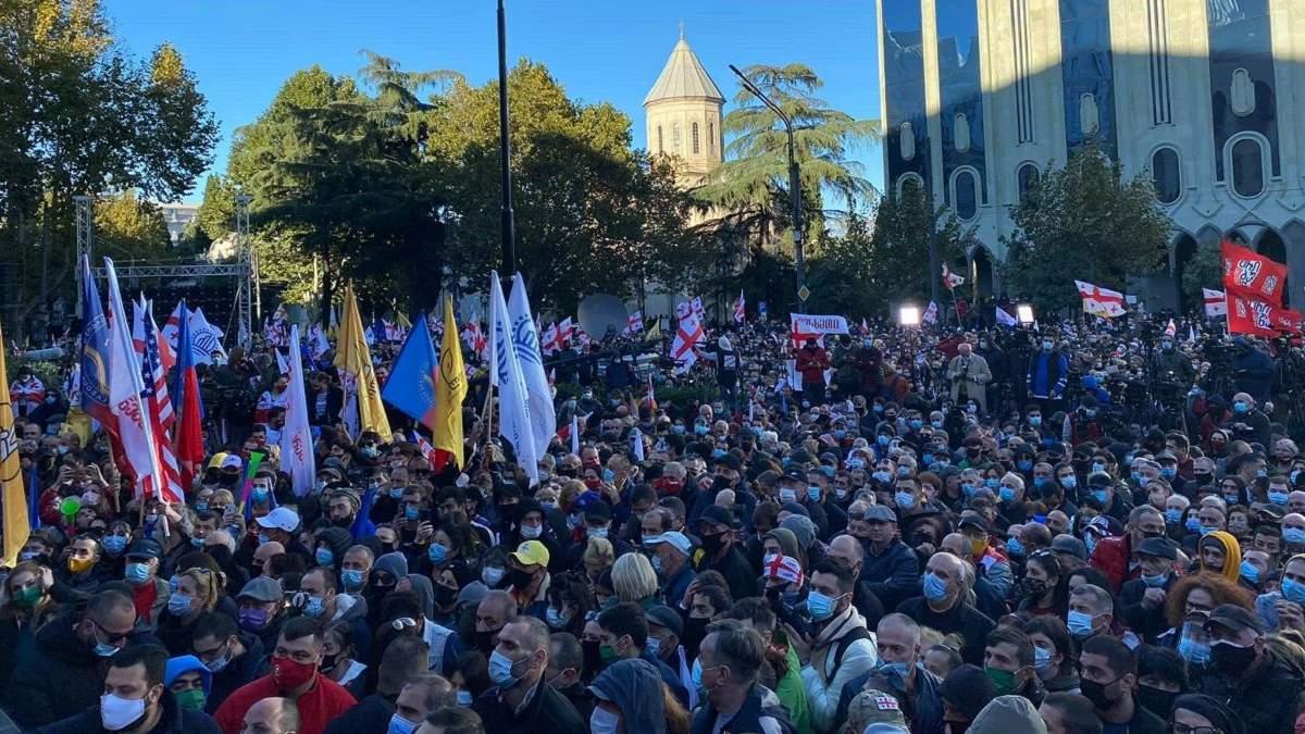 Массовые протесты в Грузии 08.11.2020: что известно - фото, видео