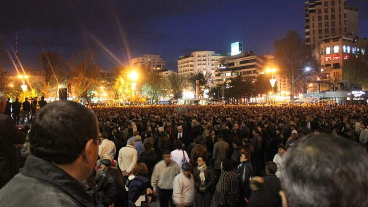 Протесты в Армении 10 ноября 2020: видео