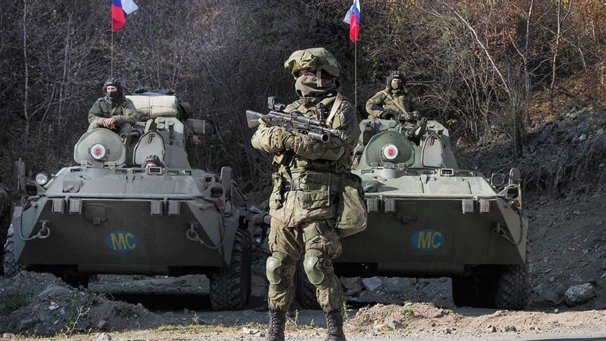 Российские военные миротворцы в Нагорном Карабахе: фото