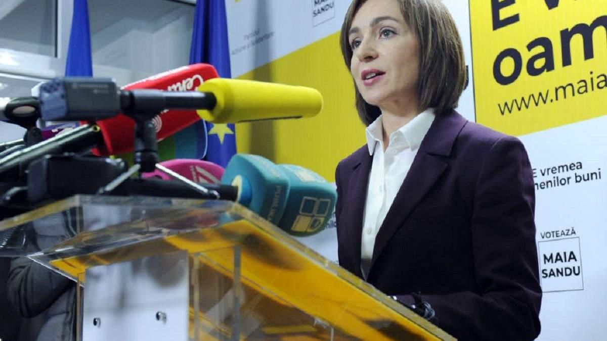 Санду розповіла, як планує просувати врегулювання щодо Придністров'я