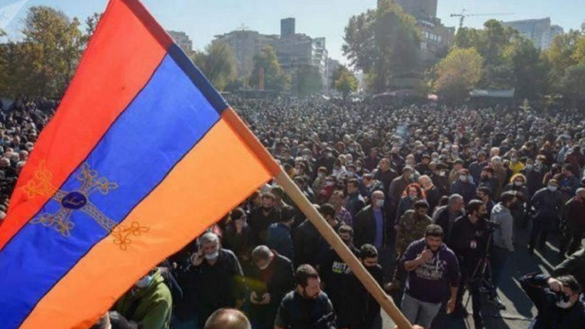 Протестна автохода в Єревані: силовики розігнали її – відео