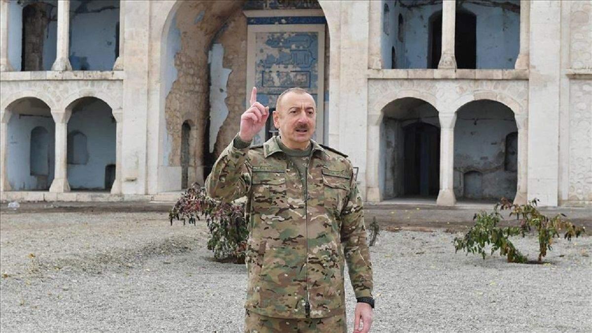 Ільхам Алієв відвідав звільнений Агдам: фото і що відомо