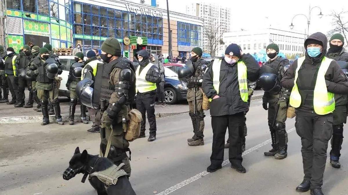 Мітинг ОПЗЖ біля посольства США у Києві: силовики оточили – відео