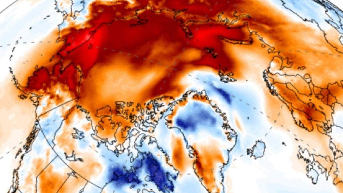 В Арктике тепловое поле почти вдвое больше площади США
