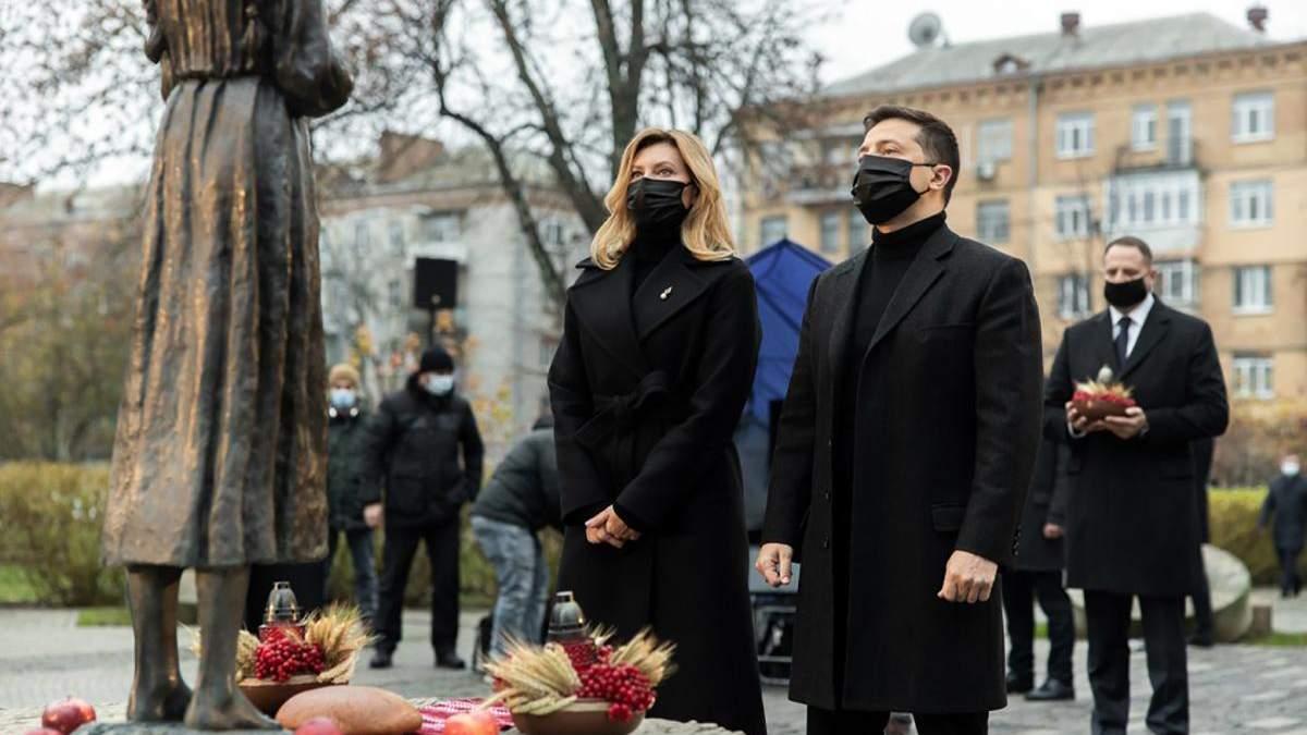 Зеленський вшанував пам'ять жертв Голодомору в Україні: фото