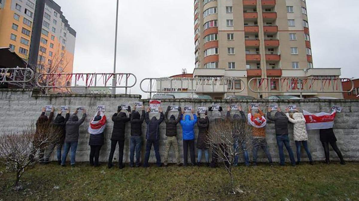 В Беларуси 28 ноября 2020 вновь прошли акции солидарности Ноль промилле: фото, видео