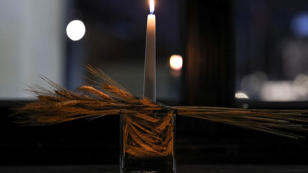 Пам'яті жертв Голодомору: у вікні президента Польщі запалили свічку