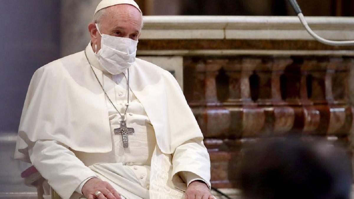 Папа Римський підбив перші підсумки пандемії COVID-19: основне
