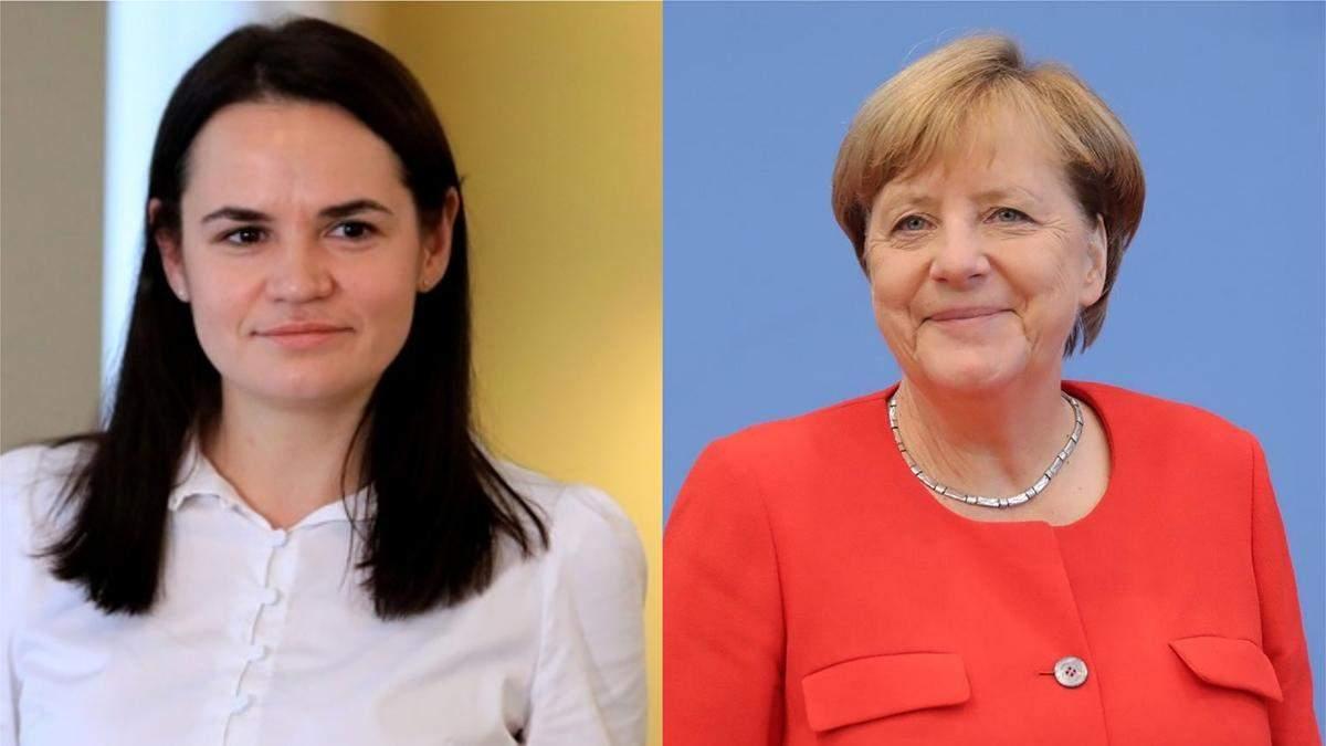 Меркель спросила, понимаю украинский язык, - Тихановська