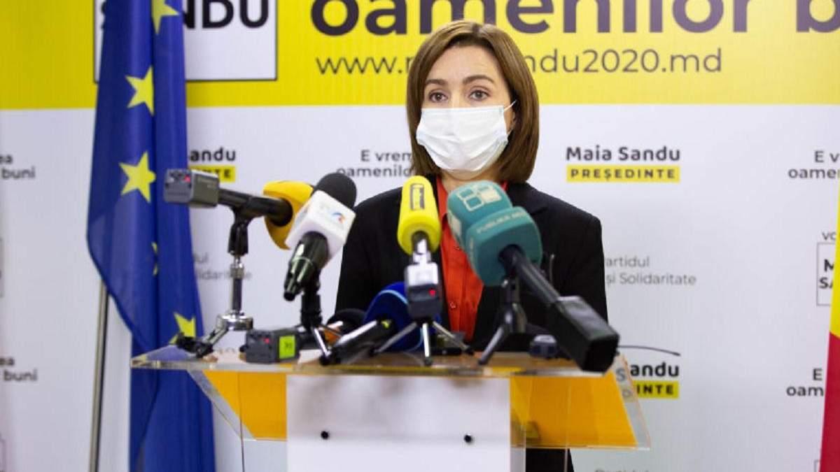Санду хочет отставки правительства и досрочных выборов в Молдове