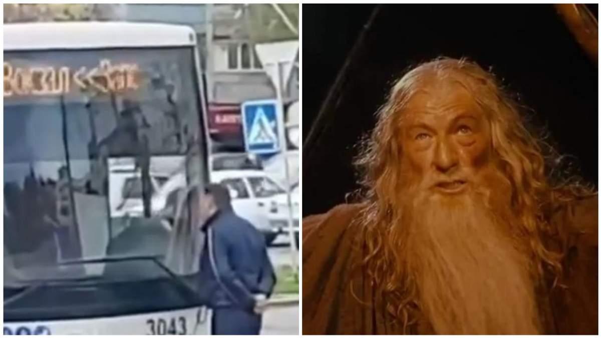 Ти не проїдеш: у Запоріжжі чоловік заблокував рух автобуса