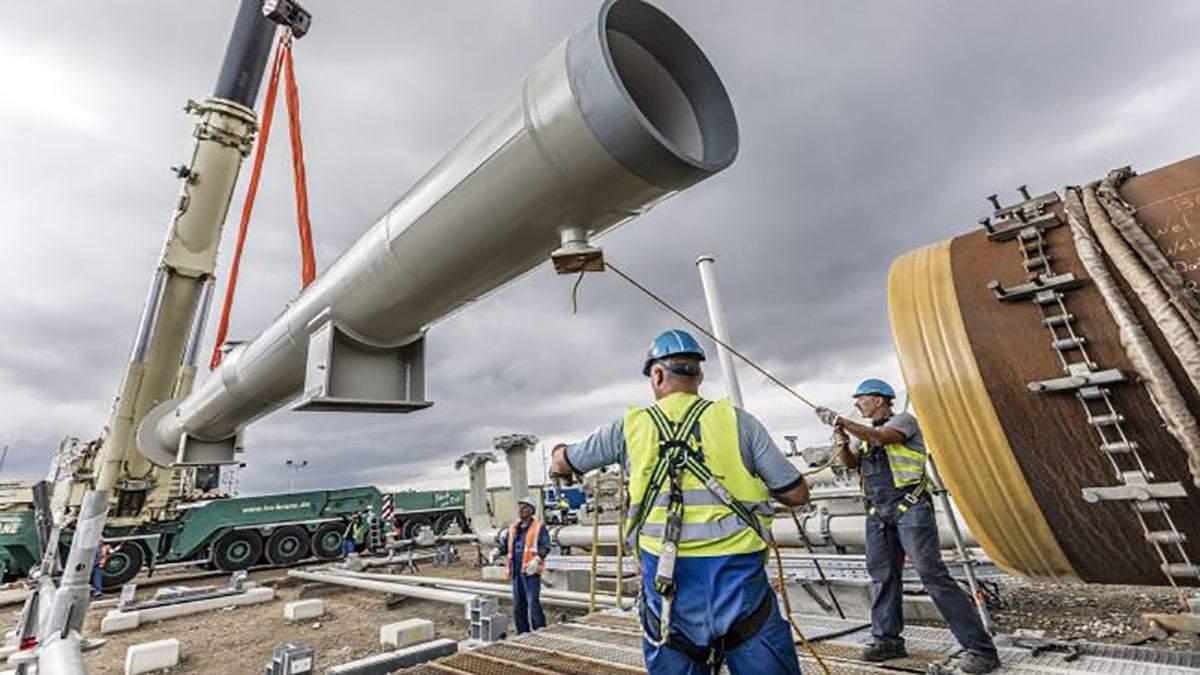 Российское судно используют для укладки труб Северного потока-2