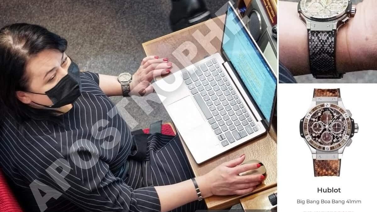 Депутатка Криворучкіна засвітила годинник за 27 тисяч доларів