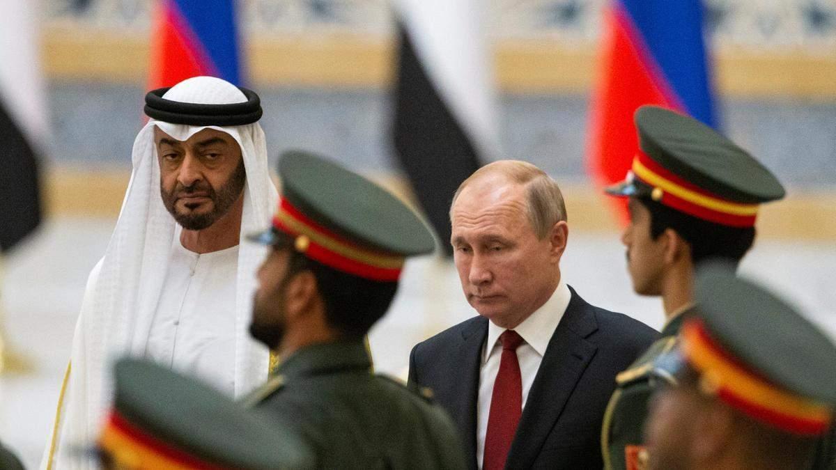 Правитель ОАЕ та Володимир Путін