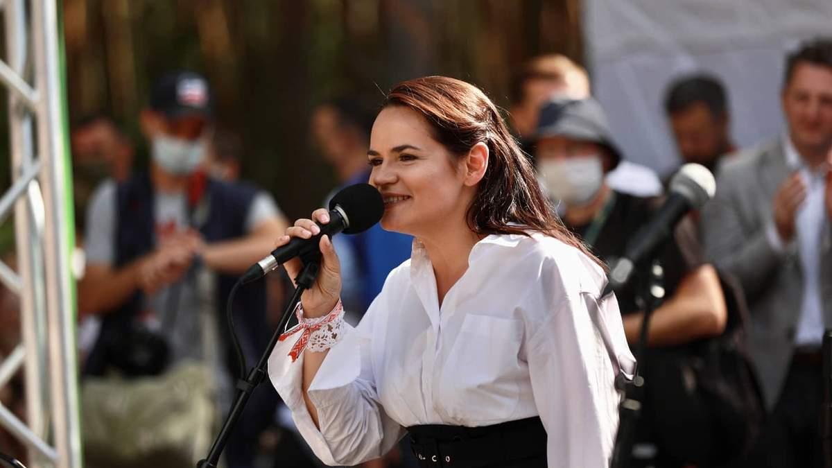 Тихановская готова возглавить Беларусь в переходный период: видео