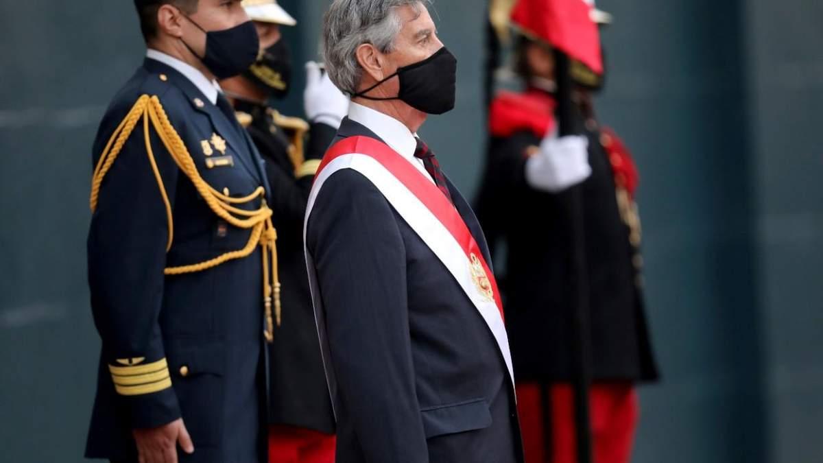Третий президент Перу за неделю Франсіско Сагасти