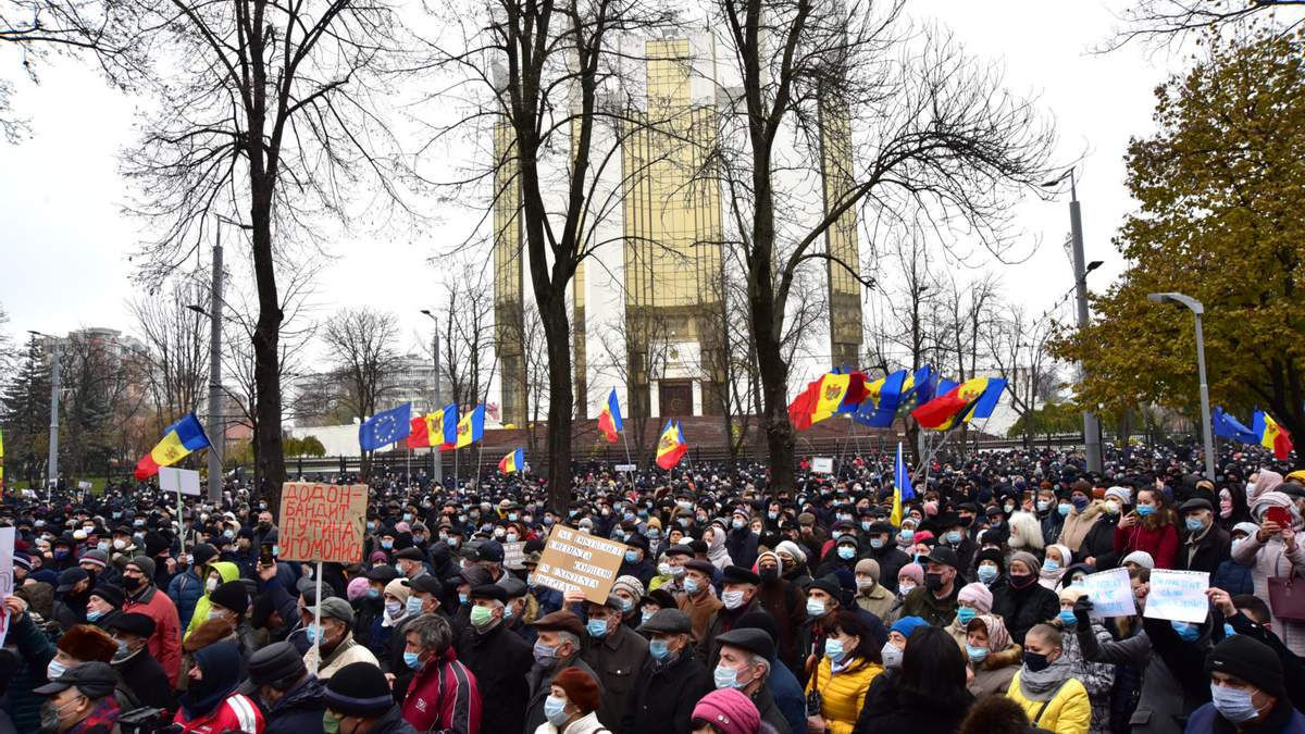 В Кишиневі протестували проти обмежень повноважень президента – фото