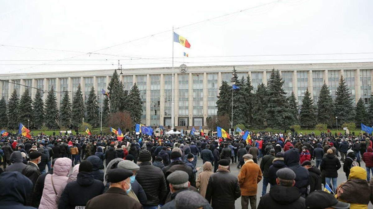 Сторонники Санду в Кишиневе требуют отставки правительства: видео