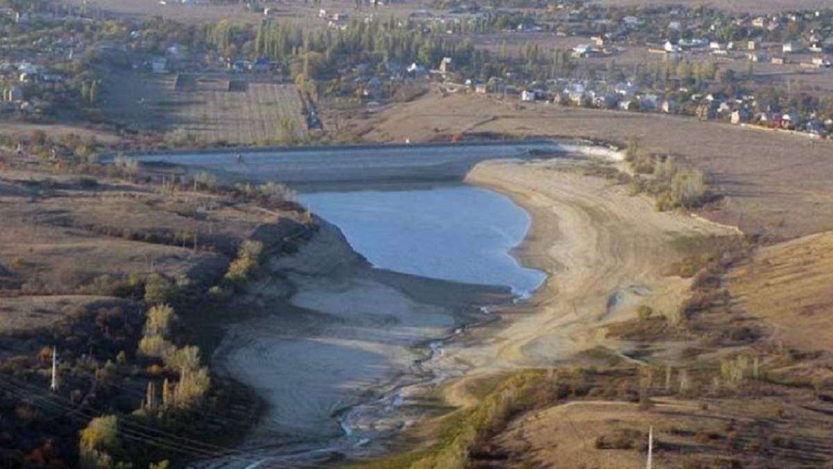 В Крыму запасов воды для крупнейших городов осталось на неделю