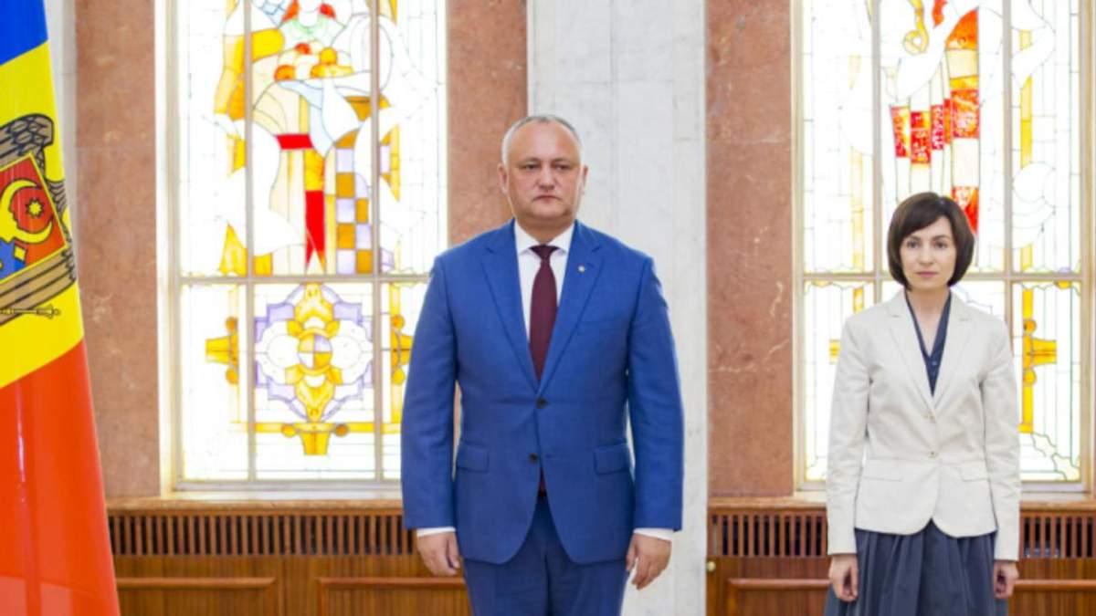 Президент Молдовы Игорь Додон врезал полномочия преемницы Майи Санду