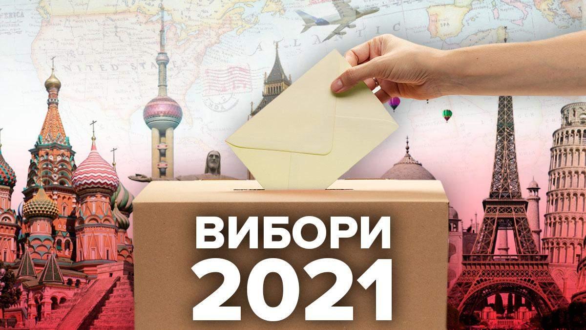 На 2021 рік заплановані вибори у багатьох країнах