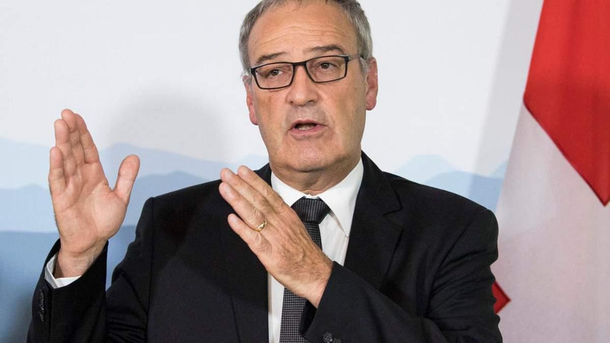 В Швейцарии Ги Пармелена выбрали президентом
