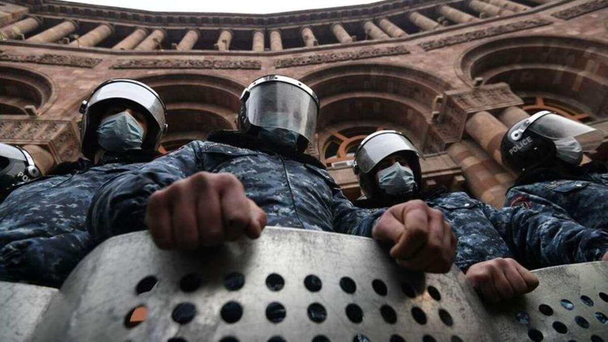 У Вірменії демонстранти побились з поліцією 24.12.2020 – відео