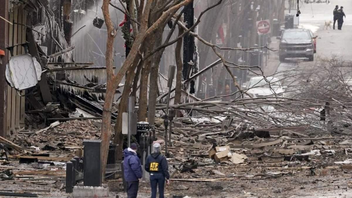 Наместе взрыва фургона вамериканском городе обнаружили человеческие останки