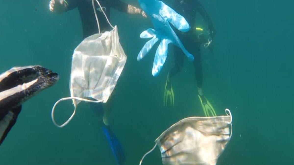 В 2020 году в океаны попало более 1,5 миллиарда масок