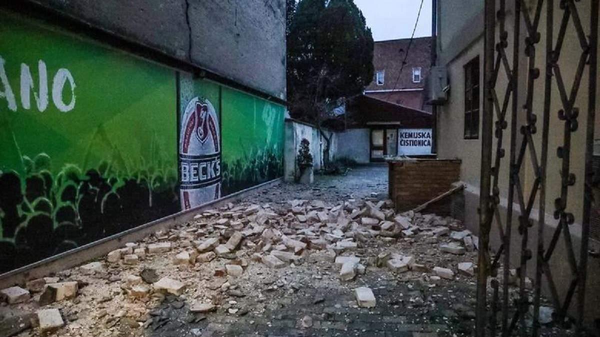 У Хорватії сталися 2 землетруси 28.12.2020: фото наслідків