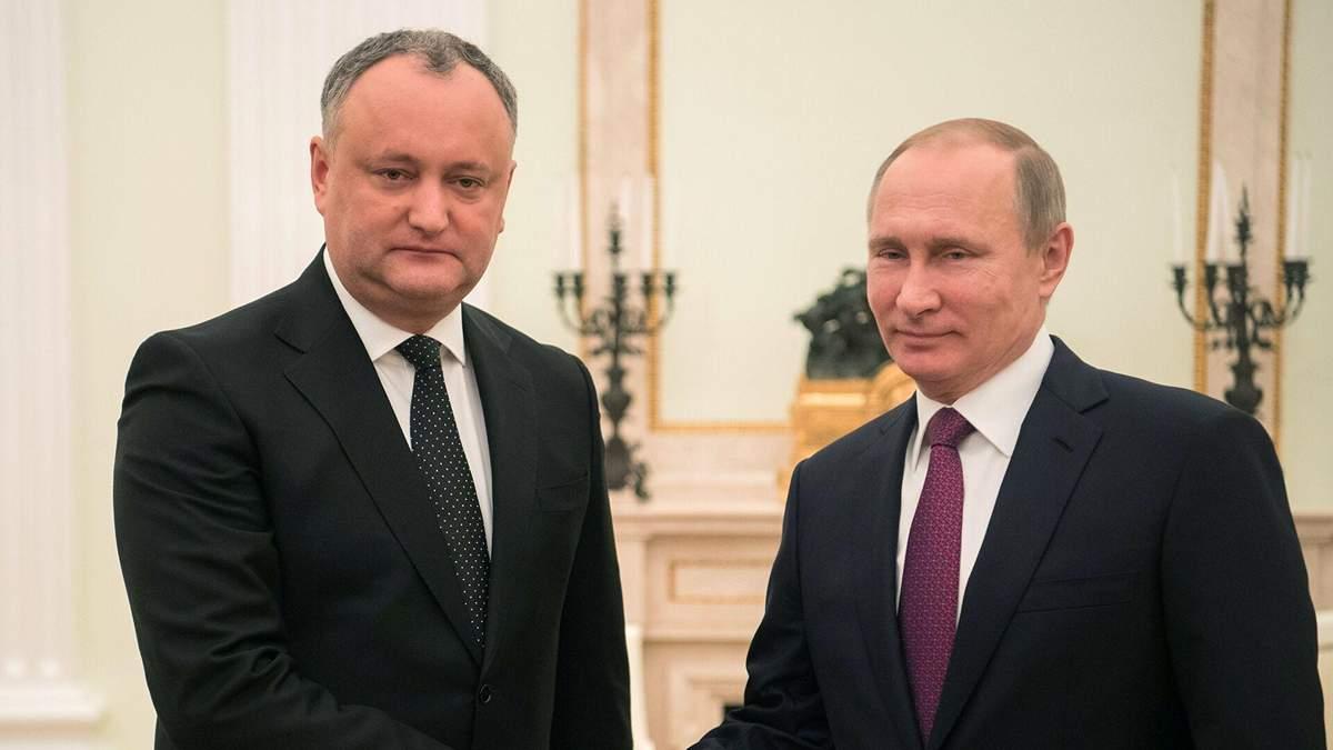Кремль не збираються погоджуватись із незалежністю Молдови, або Додон на поклоні у Пу