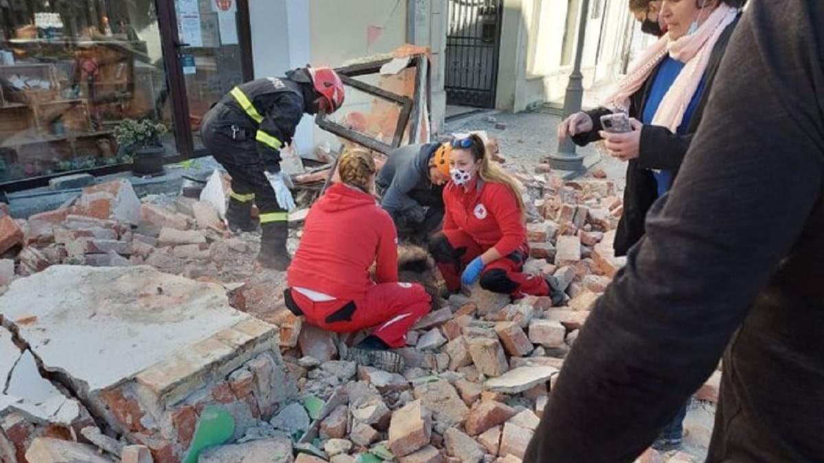 Землетрясение в Хорватии 29.12.2020: есть жертва, пострадавшие - фото
