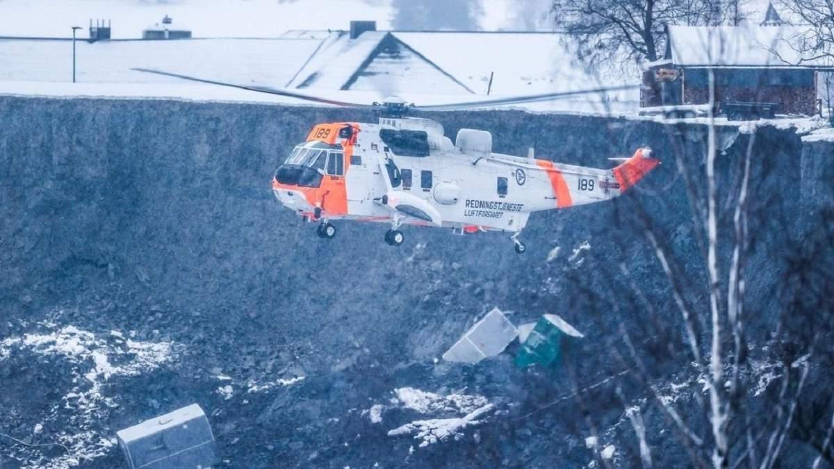 Оползень в Норвегии: спасатели нашли первого погибшего
