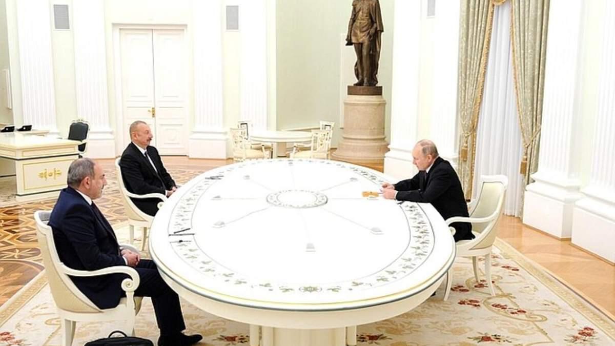 Пашинян и Алиев не пожали друг другу руки на встрече в Москве: видео