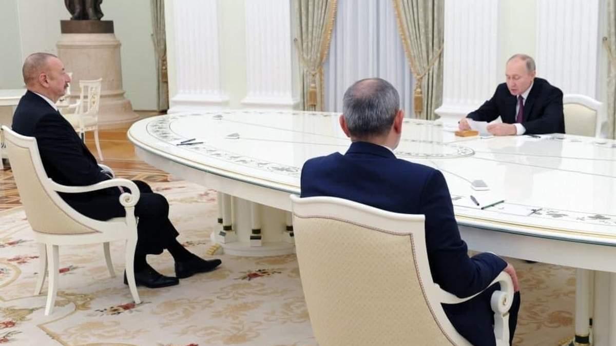 Переговори Путіна, Алієва та Пашиняна про Нагірний Карабах: результати