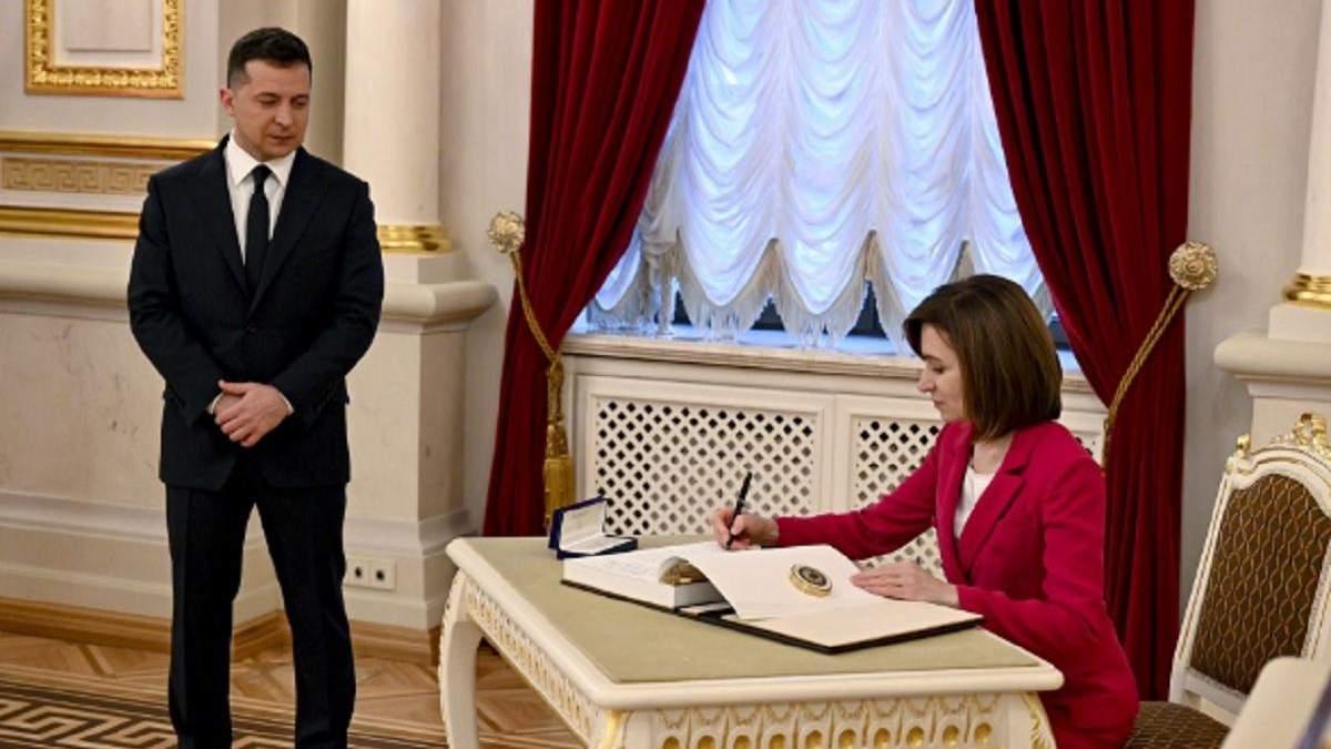 Зеленський і Санду домовились створити президентську раду